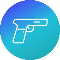 Icona di vettore di pistola