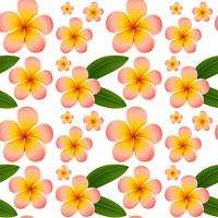 Seamless background with pink plumeria flowers