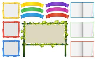 Different frame and banners templates