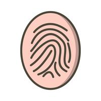 Finger Print Vector Icon