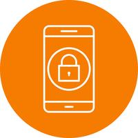 Lock Mobile Application Vector Icon