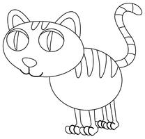 Animal outline for kitten