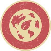 Icona di vettore del mondo di eco
