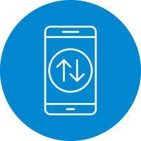 Ícone de vetor de aplicativo móvel de conexão de dados