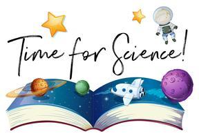 Tempo di frase per la scienza con i pianeti nella galassia