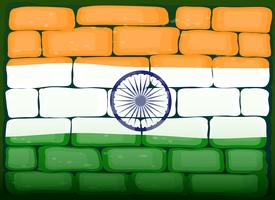 Vlag van India op brickwall