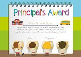 Certificaatsjabloon voor de onderscheiding van de principal