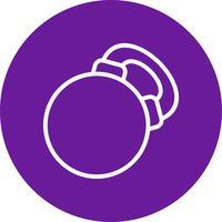 Icône de kettlebell de vecteur