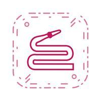 Schlauch-Vektor-Symbol