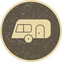 Caravana, vetorial, ícone