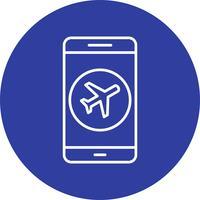 Icona di vettore di applicazione mobile dell'aeroplano