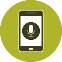 Icône de vecteur d'application mobile microphone