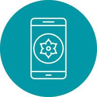 Galerie Mobile Application Vector Icon