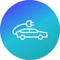 Electric Car Vector Icon