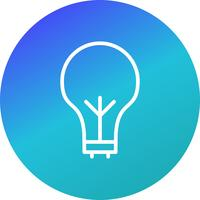 Ampoule vecteur icône