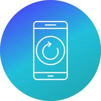 Reset Mobile Application Vector Icon