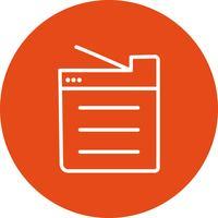 Icono de Vector de máquina de copia