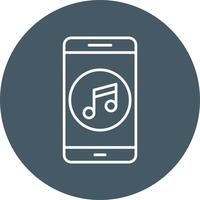Musique Mobile Application Vector Icon