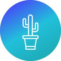 Icône de vecteur de cactus