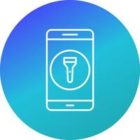 Flash Light Mobile Application Vector Icon