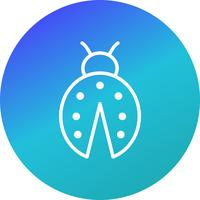 Lady Bug Vector Icon