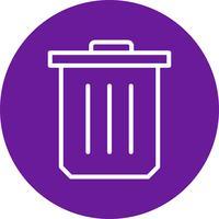 Icono de vector de basura