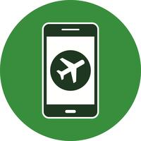 Airplane Mobile Application Vector Icon