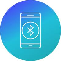Bluetooth-Anwendungs-Vektor-Symbol