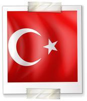 Turkey flag on paper