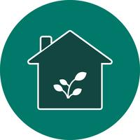 Plant Huis Vector Icon