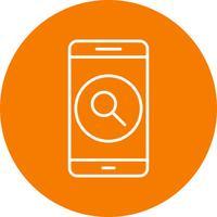 Icône de recherche Application mobile Vector