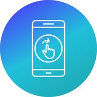 Swipe Mobile Application Vector Icon