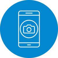 Kamera-mobile Anwendungs-Vektor-Symbol