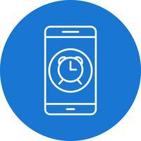Ícone de vetor de aplicativo móvel de alarme