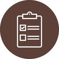 Vector checklist pictogram