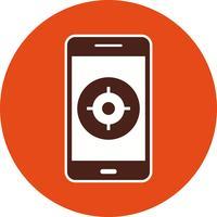 Icône de vecteur d'application mobile GPS