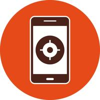 GPS mobiele applicatie Vector Icon
