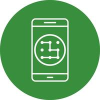 Patroon mobiele applicatie Vector Icon