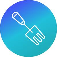 Garden Fork Vector Icon