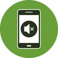 Icona di vettore di applicazione mobile silenzioso