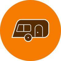 Wohnwagen-Vektor-Symbol