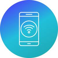 Wifi mobiele applicatie Vector Icon