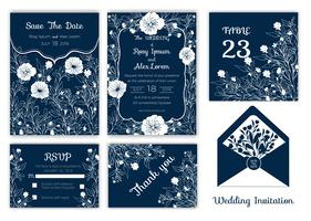 Wedding invitation , Save the date, RSVP card, Thank you card, Table number