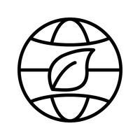 eco wereld vector pictogram