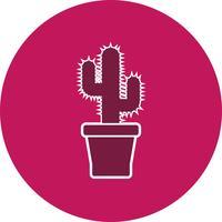 Icono de vector de cactus
