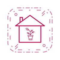 Plant House Vector Icon