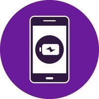 Icona di vettore di applicazione mobile di ricarica