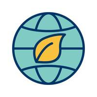 Eco-Welt-Vektor-Symbol
