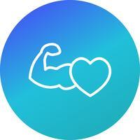 Icona del cuore sano vettoriale
