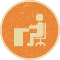 Vector Sitting on Desk Icon
